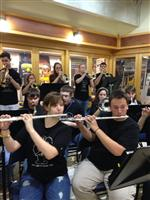 Pep Band at Pacer Game