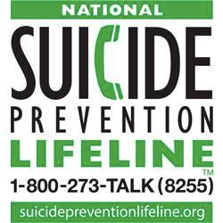 National Suicide Prevention Lifeline - 800-273-8255